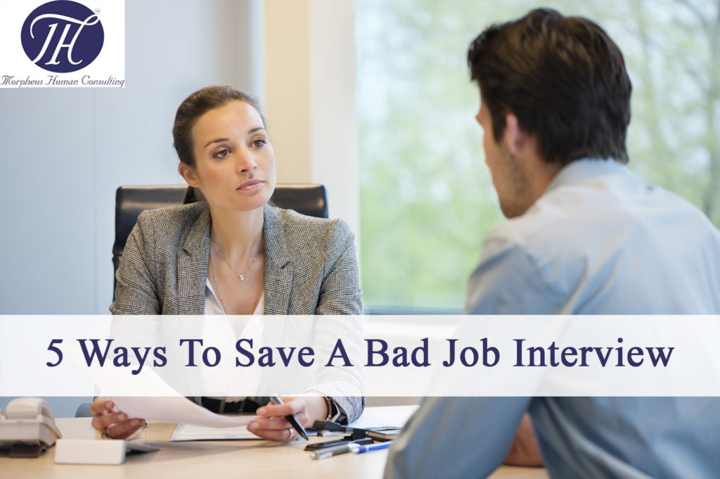 5 ways to save a bad job interview
